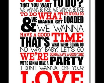 Song Lyric Poster Print A3 Primal Scream - Loaded Typography lyrics for framing   ( Print Only )