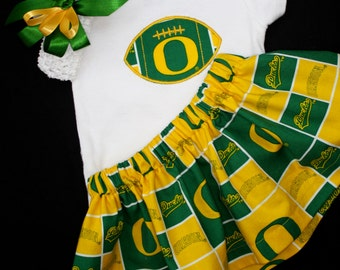 Oregon Ducks Girls 3 piece Bodysuit set