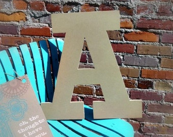 Unfinished Wooden Alphabet Letter, Wood Letter, Wall Decor, Rockwell