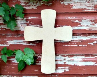 Unfinished MDF Wooden Cross #16