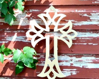 Unfinished MDF Wooden Cross #57