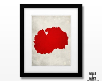 Macedonia FROY Map Print - Home Town Love - Personalized Art Print Available in Different Sizes & Colors