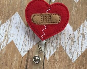 Bandaged Heart Badge Reel