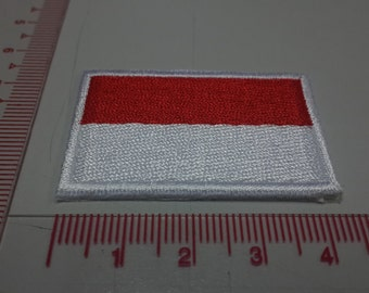 Indonesia Flag Iron on patch - Flag Applique Embroidered Iron on Patch