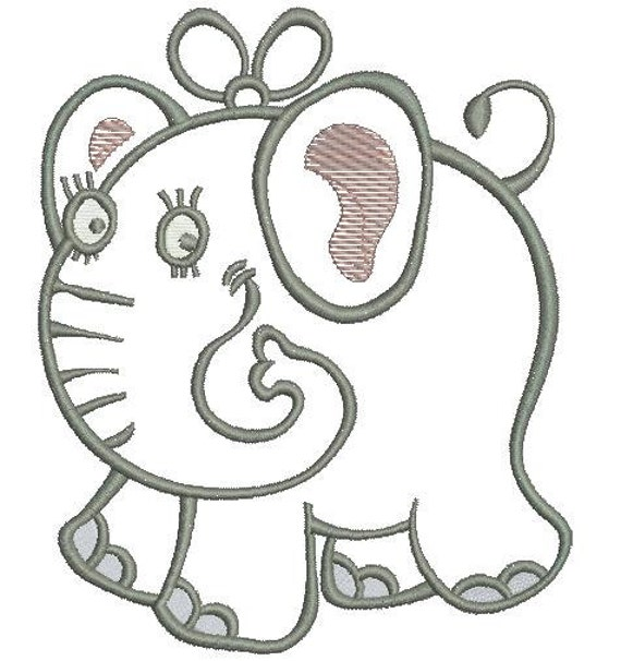 Elephant Machine Embroidery Design