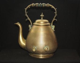 Antique Unique Brass Decorative Tea Pot