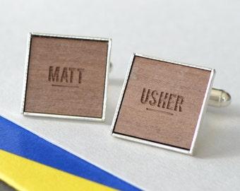 Personalised Usher Engraved Cufflinks