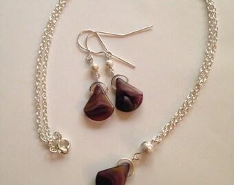 Amethyst Pendant & Earring Set