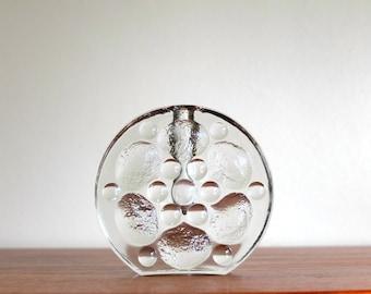 1960s glass flower holder / soliflore vase