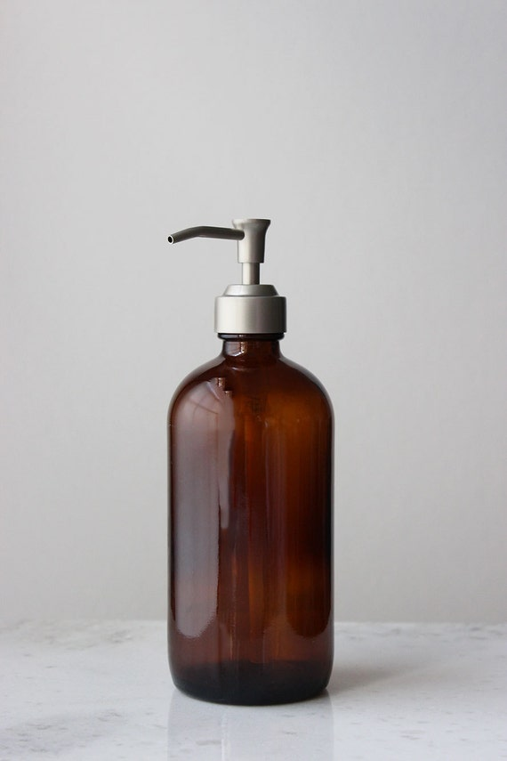 Amber Market Glass Apothecary Style Soap Dispenser