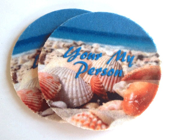 Seashells absorbent drink coasters set free by spreadblessings - Drink coasters absorbent ...