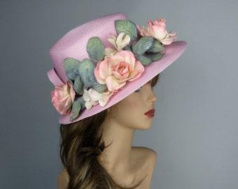 Summer Hat, Woman Hat, Kentucky Derby Hat, Tea Hat, Sun Hat