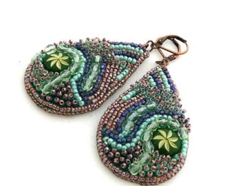 Drops Embroidered Earrings