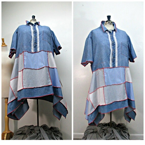 plus size 4x plus size clothing upcycled by repurposecouture