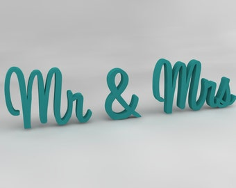 Handpainted Mr and Mrs Wedding Table Sign, Wedding Reception Sign, Wooden Sign, Wedding Signs, Sweetheart Table, Wedding Decoration
