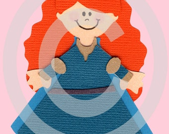 Brave Princess Merida Scrapbook Die Cut Paper Doll Disney Project Life