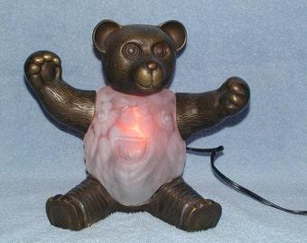 Teddy Bear Accent Lamp or Nightlight - Andrea of Sadak