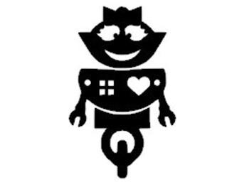 Lady Robot Vinyl Decal Sticker