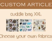 CUSTOM ARTICLE: cosy sleeping bag / cuddle sack XXL for guinea pigs, hedgehogs or sugar gliders