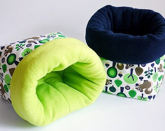 SAVE SHIPPING: 2x cosy cuddle sack / sleeping bag XXL for guinea pigs or hedgehogs (squirrels)