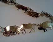 """Wild Bryde 22"""" Farm Animal necklace - gold plate, like new"""