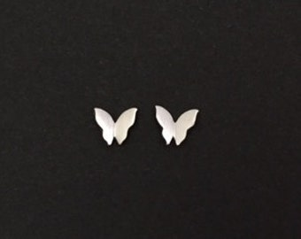 TINY Sterling Silver Butterfly Earrings. Tiny Silver Studs.Sterling Silver. Sterling Silver Butterfly Studs. Post Earrings. Silver Studs