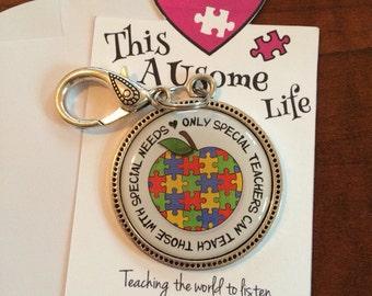 Autism Awareness Keychain for Teachers/Teacher Appreciation/Personalized