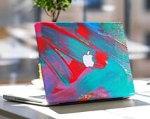 "Vibrant Brush Strokes Vinyl Skin Decal for Apple Macbook Air & Mac Pro Retina , New Macbook 12"" , Dell , HP , Toshiba , Asus , Samsung"