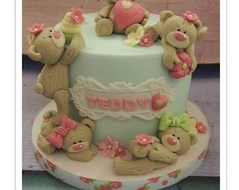Scruffy Teddy Cake PDF Tutorial