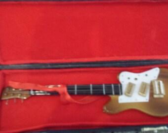 Miniature Electric Guitar in Black Case