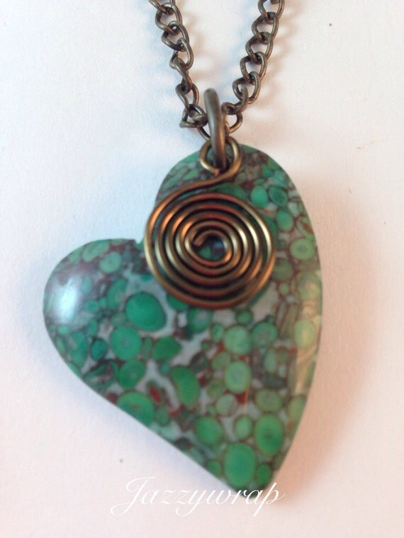Green Crazy Lace Agate Gemstone Necklace