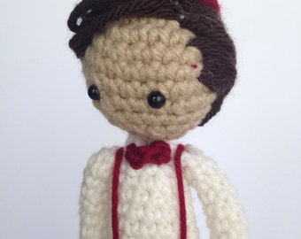 Doctor Who 11th Doctor Crochet Doll