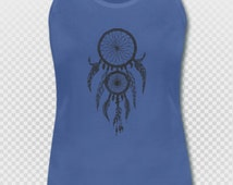 Dreamcatcher Yoga Singlet Pink Blue or White Sizes S - XL