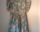 Late 80's Early 90's Flowered Dress