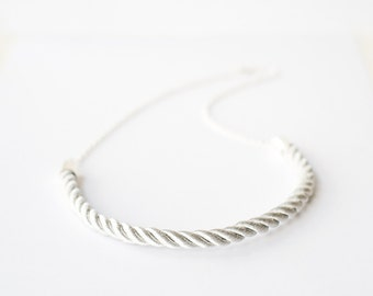 Silver Cord Necklace