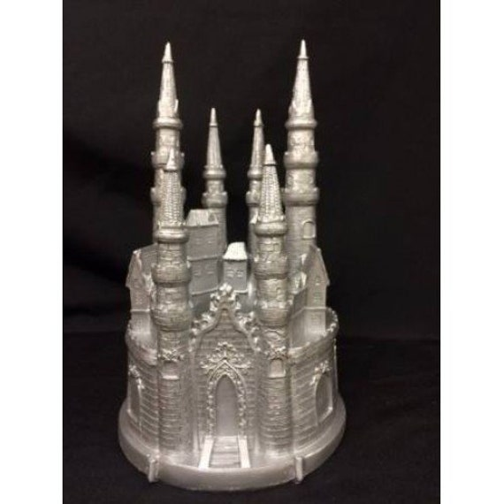 fairy castle wedding cake topper tale silver castle cake topper castle cake topper 14093