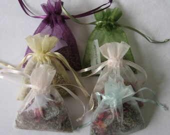 Organic Lavender and Rose Petal Sachets