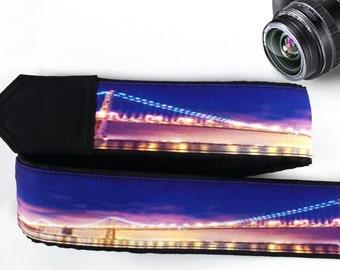 San Francisco Golden Gate Bridge Camera Strap.  Camera Accessories