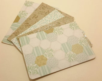 Country Quilt / blank note card set