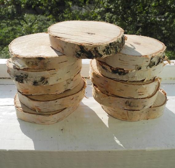 Wood rounds slices round tree wooden discs wedding