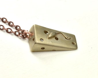 Mouse on a Wedge of Cheese Pendant