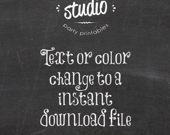 Change Text or Colors to an Instant Download File