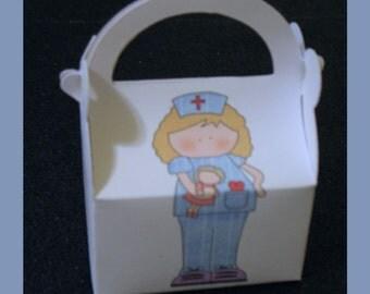 nurse favor box,nurse party favor