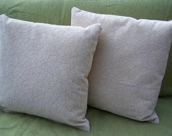 Pillows! Set of two, handmade.