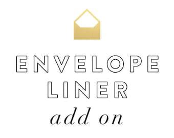 Stationery Envelope Liner Add On - for set of 15
