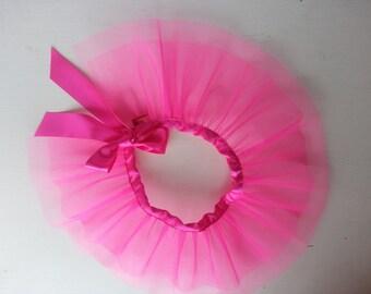 Pink dog tutu,  pink dog costume. Dog party clothing, special occasion, wedding tutu.