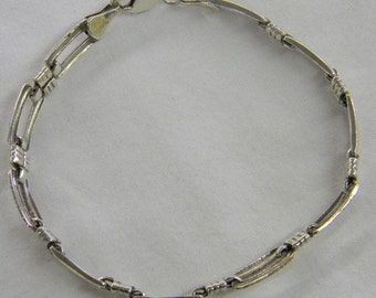 "Sterling Silver 925 Adorable Bead Bracelet, 7"" Long #6201"