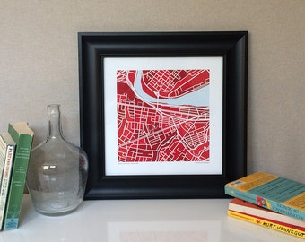 Boston University Map Print
