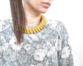Gold Rope necklace Gold statement necklace Gold KnotNecklace