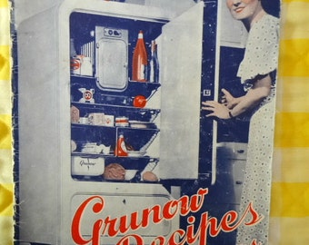 Grunow Refrigerator with Carrene Booklet 1930s